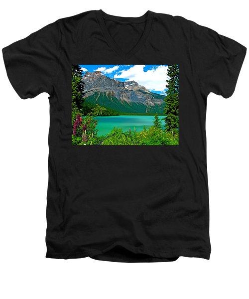 Emerald Lake In Yoho Np-bc Men's V-Neck T-Shirt