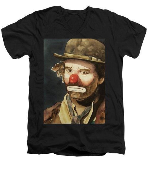 Emmett Kelly Men's V-Neck T-Shirt