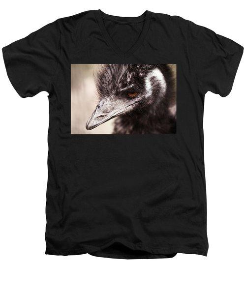 Emu Closeup Men's V-Neck T-Shirt