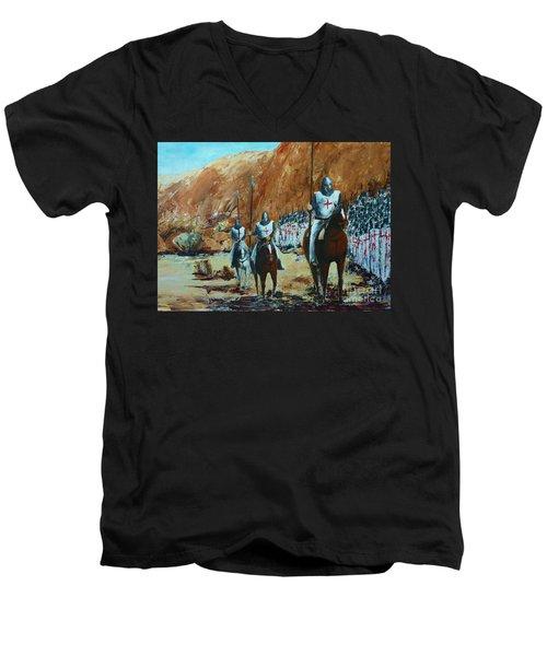 En Route To Battle Men's V-Neck T-Shirt