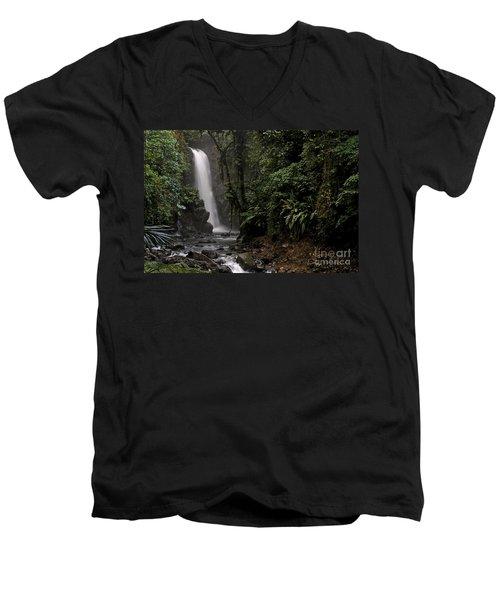 Encantada Waterfall Costa Rica Men's V-Neck T-Shirt