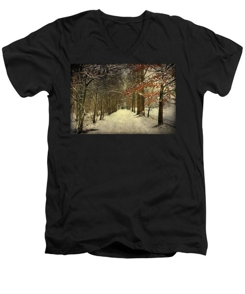 Enchanting Dutch Winter Landscape Men's V-Neck T-Shirt