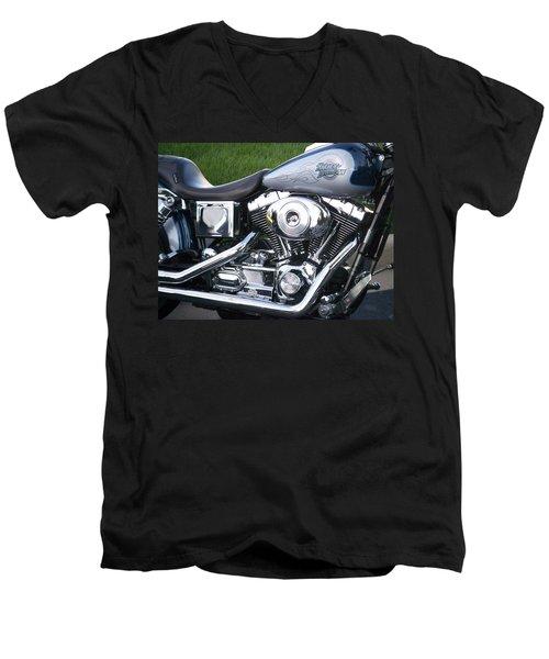 Engine Close-up 5 Men's V-Neck T-Shirt