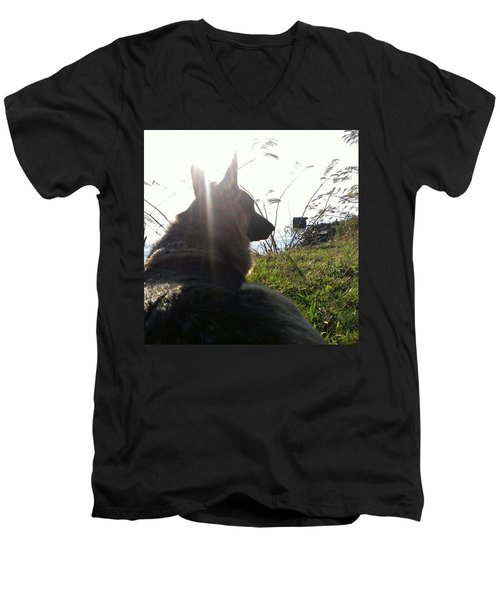 Men's V-Neck T-Shirt featuring the photograph Enjoying The Day by Thomasina Durkay