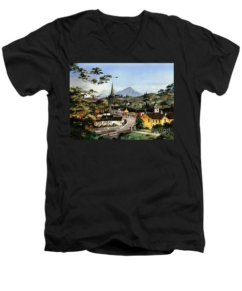 Enniskerry Panorama Wicklow Men's V-Neck T-Shirt