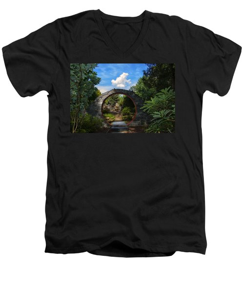 Entering The Garden Gate Men's V-Neck T-Shirt