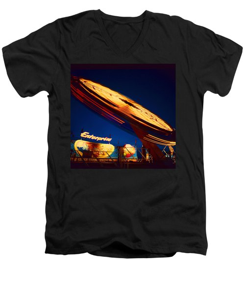 Enterprise Men's V-Neck T-Shirt by Don Spenner