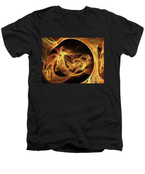 Epoch Men's V-Neck T-Shirt by Kim Sy Ok