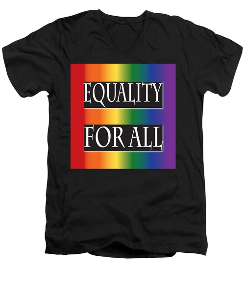 Equality Rainbow Men's V-Neck T-Shirt by Jamie Lynn