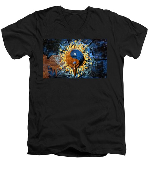 Equilibria Men's V-Neck T-Shirt by Kenneth Armand Johnson