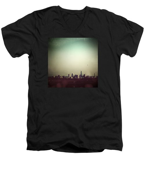 Escaping The City Men's V-Neck T-Shirt by Trish Mistric
