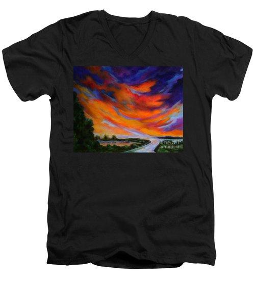 Espiritu Del Cielo Men's V-Neck T-Shirt