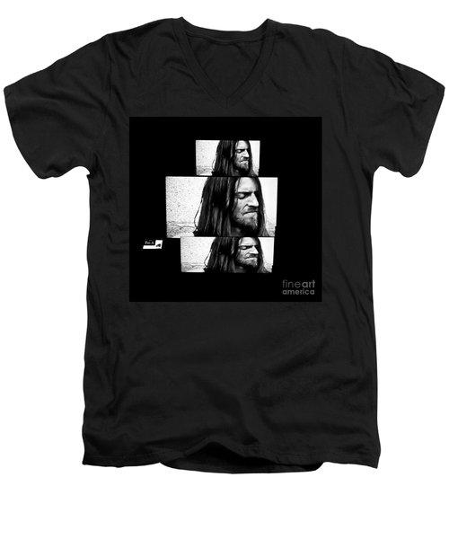 Estas Tonne's Face Men's V-Neck T-Shirt