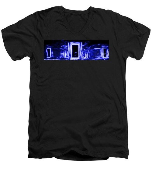 Ethereal Doorways Blue Men's V-Neck T-Shirt