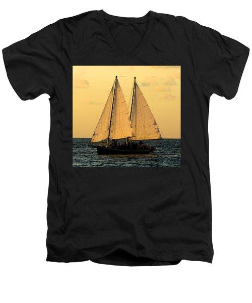 More Sails In Key West Men's V-Neck T-Shirt