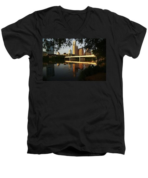Evening Along The River Men's V-Neck T-Shirt