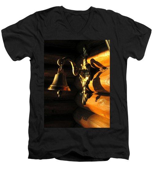 Evening Bell Men's V-Neck T-Shirt by Leena Pekkalainen