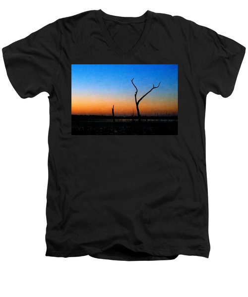 Evening Glow Men's V-Neck T-Shirt