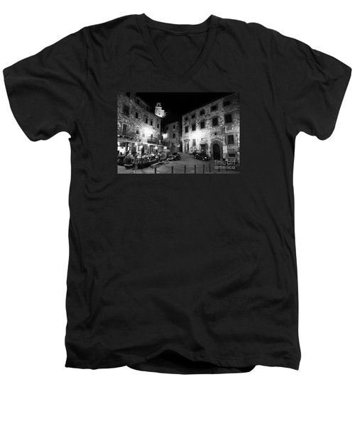 Evening In Tuscany Men's V-Neck T-Shirt by Ramona Matei