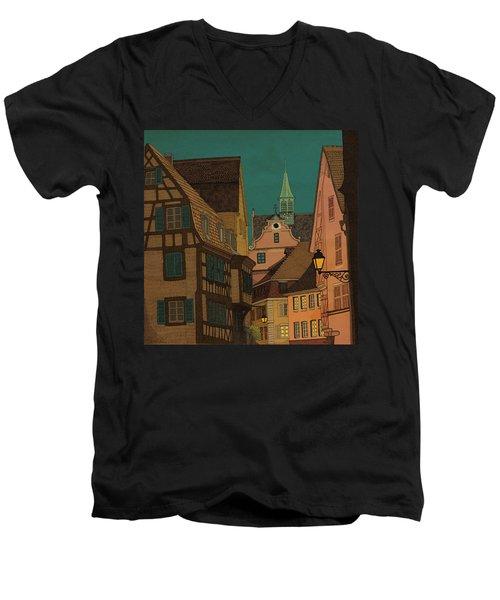 Evening Men's V-Neck T-Shirt