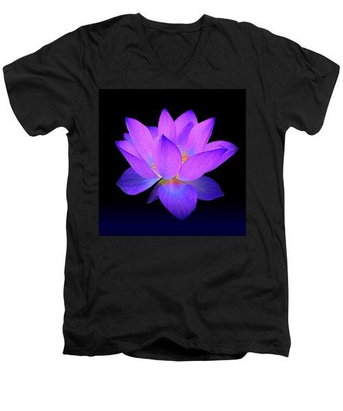 Evening Purple Lotus  Men's V-Neck T-Shirt