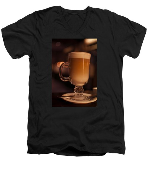 Men's V-Neck T-Shirt featuring the photograph Evening Refreshments by Miguel Winterpacht