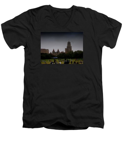 Men's V-Neck T-Shirt featuring the photograph Evening by Salman Ravish