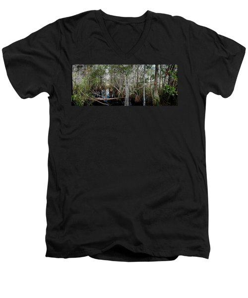 Everglades Swamp-1 Men's V-Neck T-Shirt