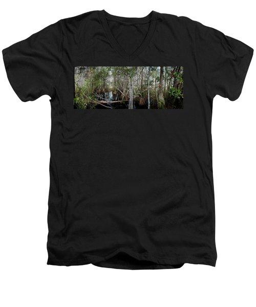 Everglades Swamp-1 Men's V-Neck T-Shirt