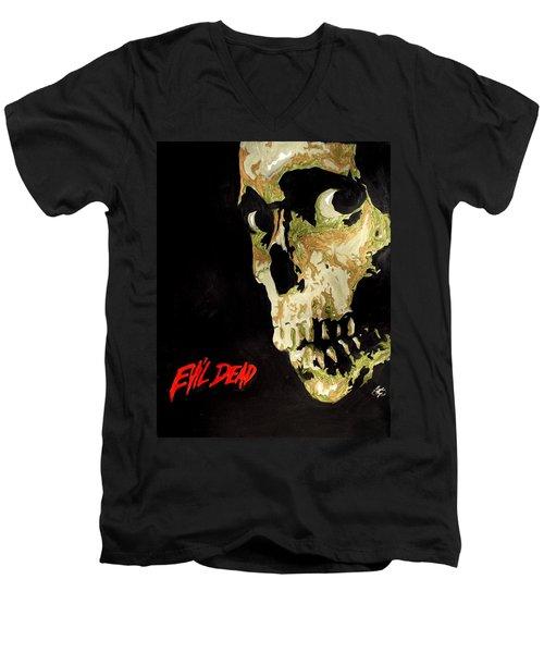 Evil Dead Skull Men's V-Neck T-Shirt