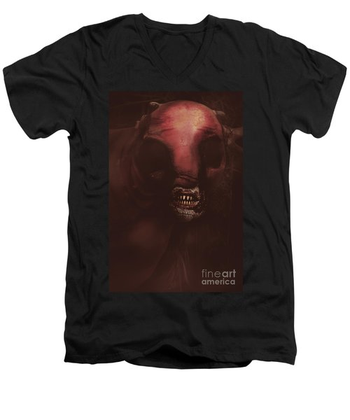 Evil Greek Mythology Minotaur Men's V-Neck T-Shirt