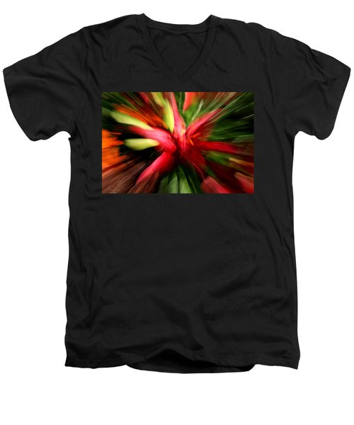 Exploding Lily Men's V-Neck T-Shirt