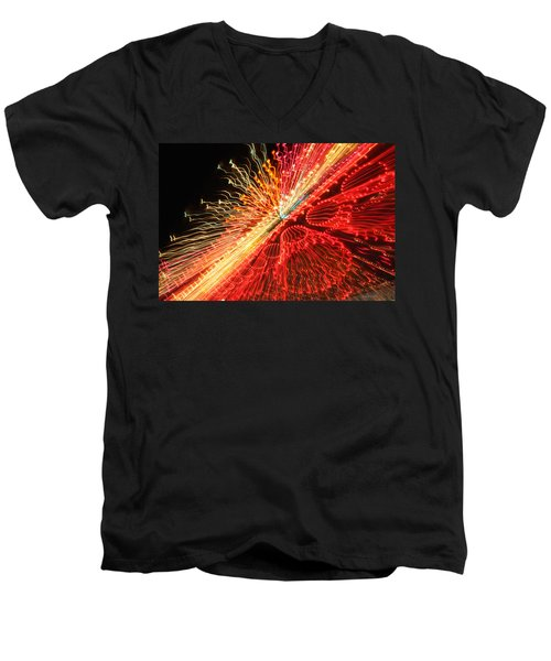 Exploding Neon Men's V-Neck T-Shirt