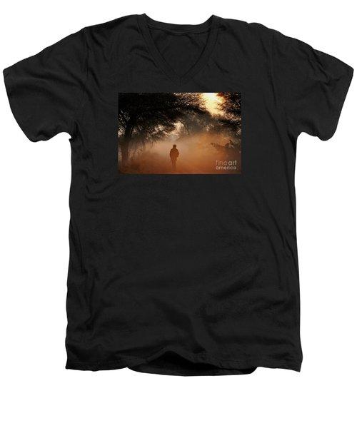 Explorer The Nature Men's V-Neck T-Shirt by Manjot Singh Sachdeva