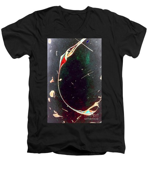 Men's V-Neck T-Shirt featuring the painting Exploring New Depths by Jacqueline McReynolds