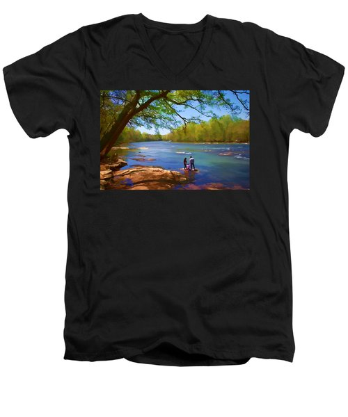 Exploring The River Men's V-Neck T-Shirt