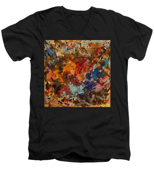 Explosive Chaos Men's V-Neck T-Shirt