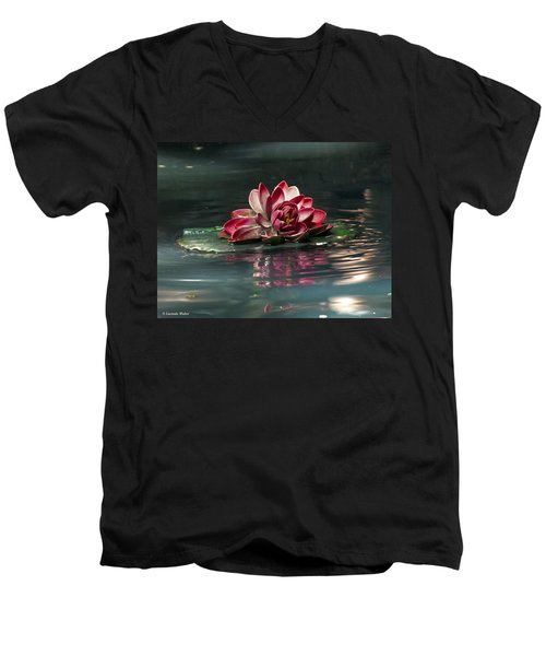 Men's V-Neck T-Shirt featuring the photograph Exquisite Water Flower  by Lucinda Walter