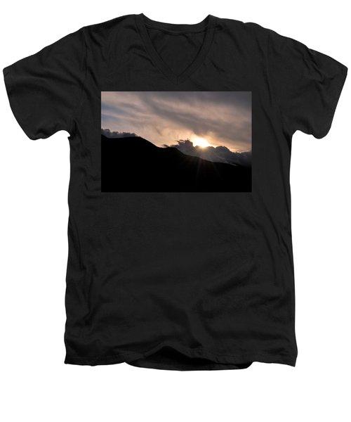 Men's V-Neck T-Shirt featuring the photograph Eye In The Sky by Matt Harang