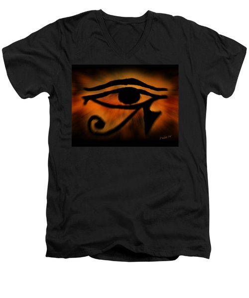 Eye Of Horus Eye Of Ra Men's V-Neck T-Shirt