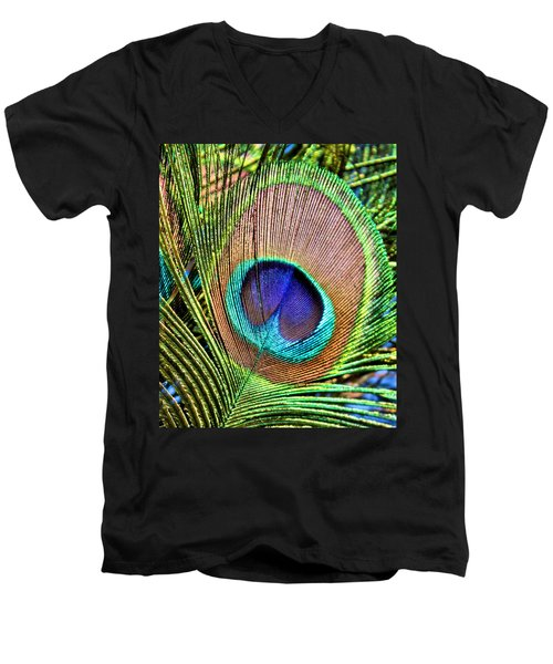 Eye Of The Feather Men's V-Neck T-Shirt