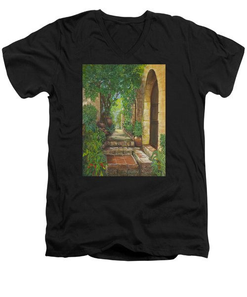 Eze Village Men's V-Neck T-Shirt by Alika Kumar