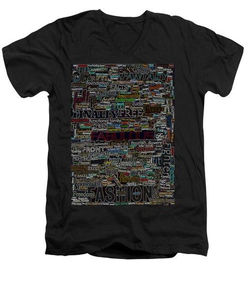 F - Words Men's V-Neck T-Shirt