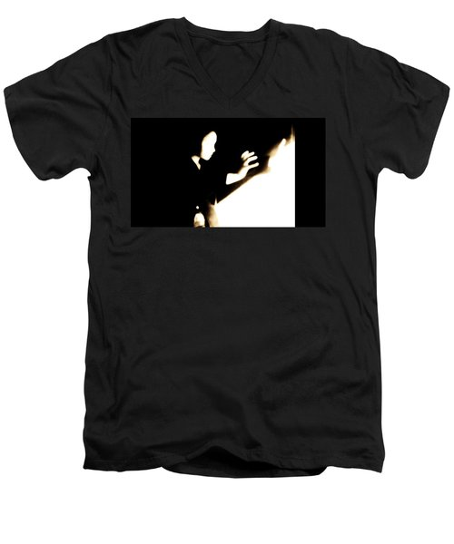Men's V-Neck T-Shirt featuring the photograph Faceless Magician  by Jessica Shelton
