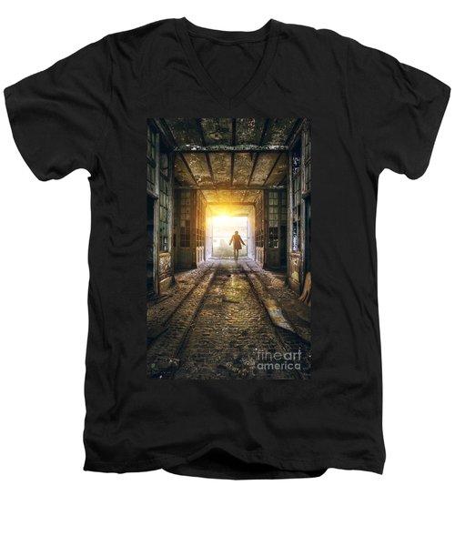 Factory Chase Men's V-Neck T-Shirt