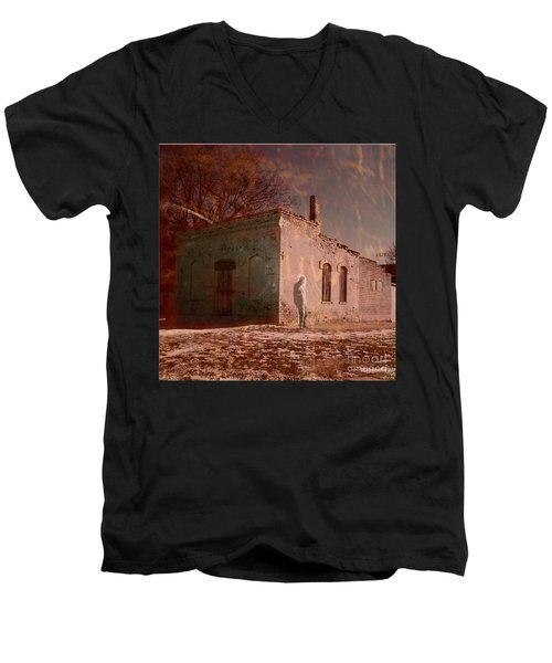 Faded Memories Men's V-Neck T-Shirt by Desiree Paquette