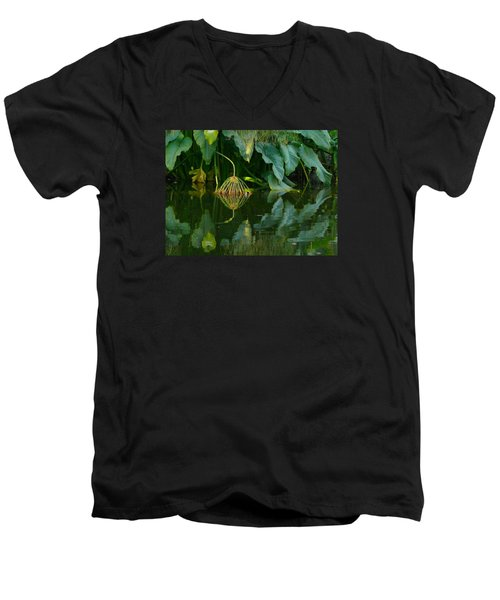 Men's V-Neck T-Shirt featuring the photograph Fairy Pond by Evelyn Tambour