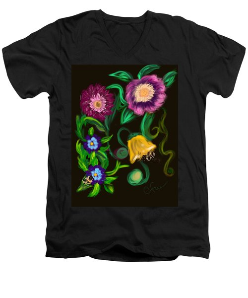 Fairy Tale Flowers Men's V-Neck T-Shirt