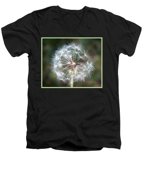 Men's V-Neck T-Shirt featuring the photograph Fairy Umbrellas by Kathy Barney