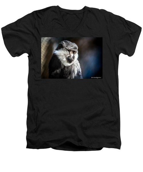 Men's V-Neck T-Shirt featuring the photograph Fake Wildlife by Stwayne Keubrick